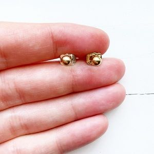Vintage Avon small gold metal ball stud earrings
